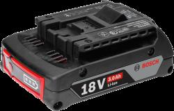 - Bosch Professional GBA 18 Volt 3,0 Ah Li-on Akü