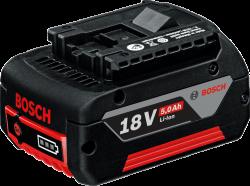 - Bosch Professional GBA 18 Volt M-C 5,0 Ah Li-on Akü