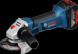 BOSCH - Bosch Professional GWS 18-125 V-LI 4 Ah Çift Akülü Taşlama - L-boxx Çantalı