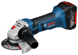 BOSCH - Bosch Professional GWS 18 V-LI 4 Ah Çift Akülü Taşlama - L-boxx Çantalı